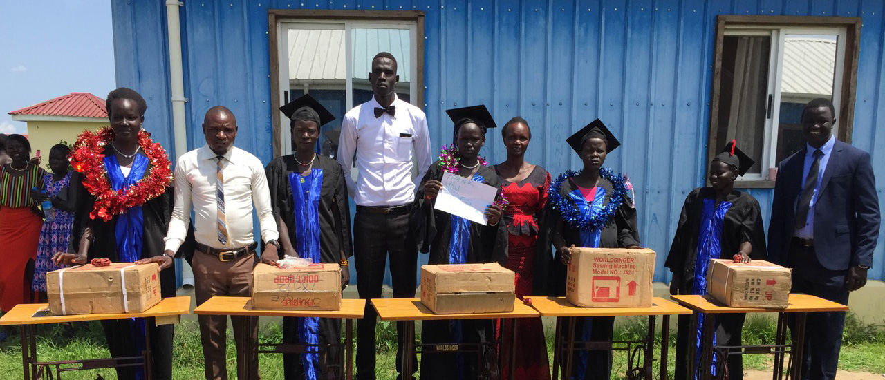 Graduates In South Sudan With Sewing Machines